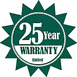 25 year Warranty Sticker With Braid