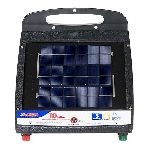 Fi Shock 174 Solar Powered 10 Mile Charger Model Esp10m Fs