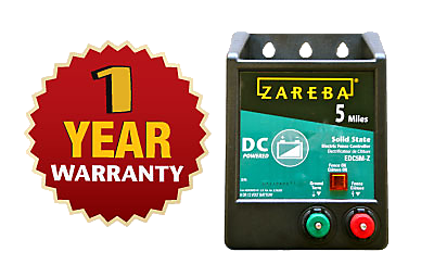 5 Mile Battery Operated Solid State Fence Charger Zareba