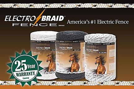 ElectroBraid Warranty Electric Horse Fence