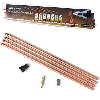 Electrobraid 174 Copper Sectional Ground Rod Kit Model Grsc8 Eb