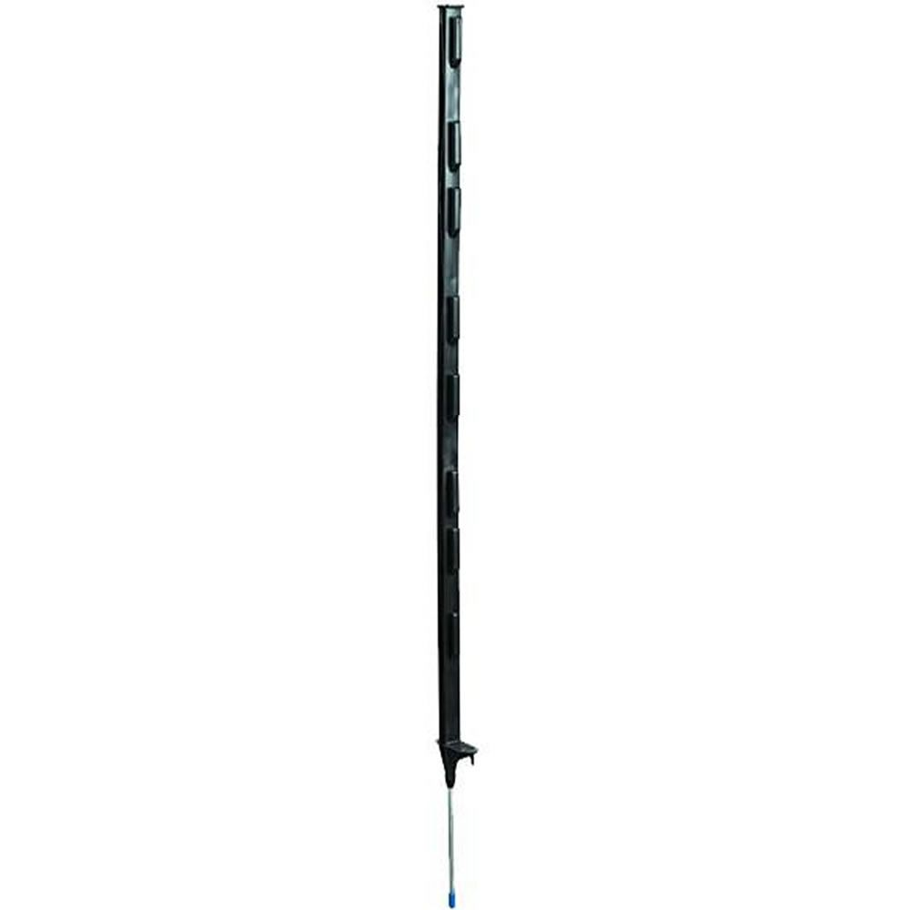 Black 4 Foot Step In Post Electric Fence Wire Zareba 174