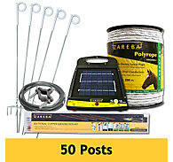 Zareba® Polyrope Temporary Electric Fence System – All-in-One Electric Fence Kit