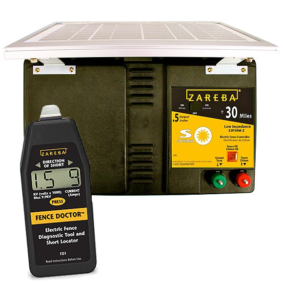 Zareba 30 Mile Best Solar Fence Charger And Fence Doctor