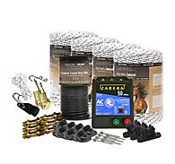 ElectroBraid® Small Paddock Starter Kit - Checkered, Black