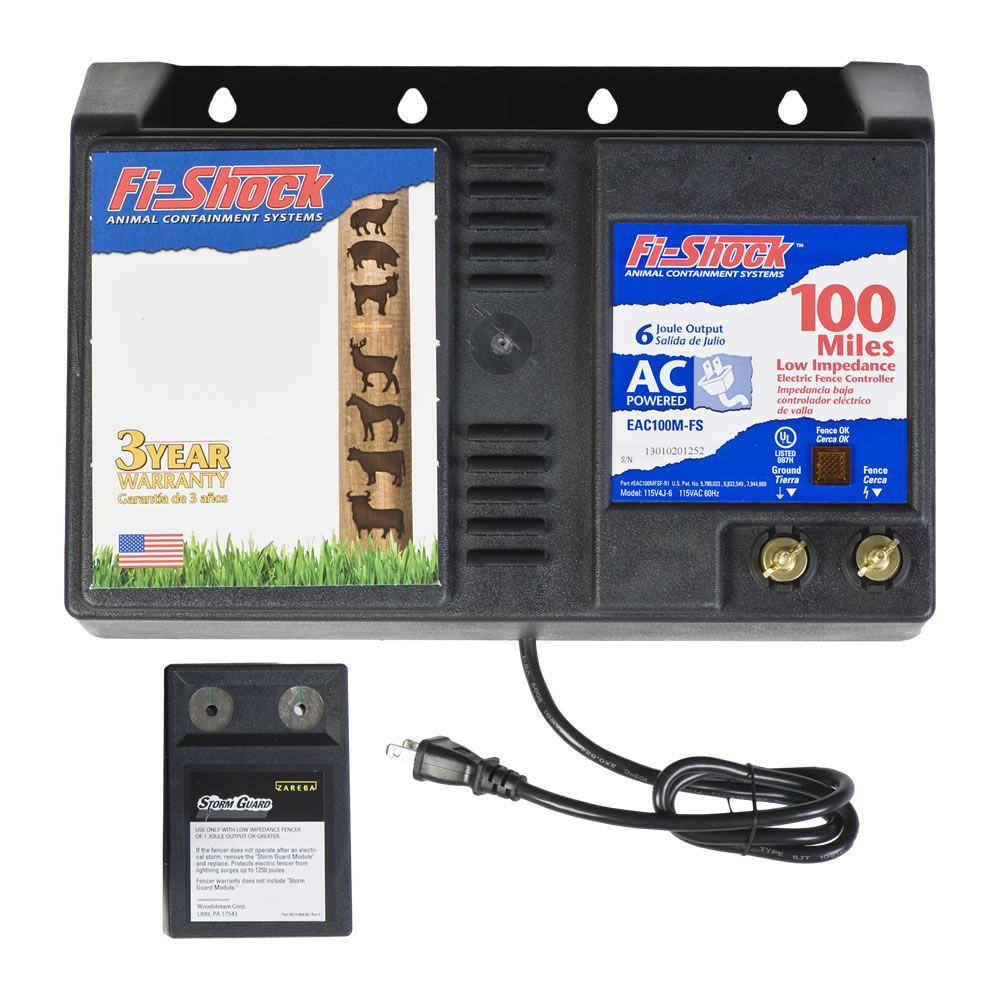 Fi Shock 174 Ac Powered 100 Mile Charger Model Eac100m Fs