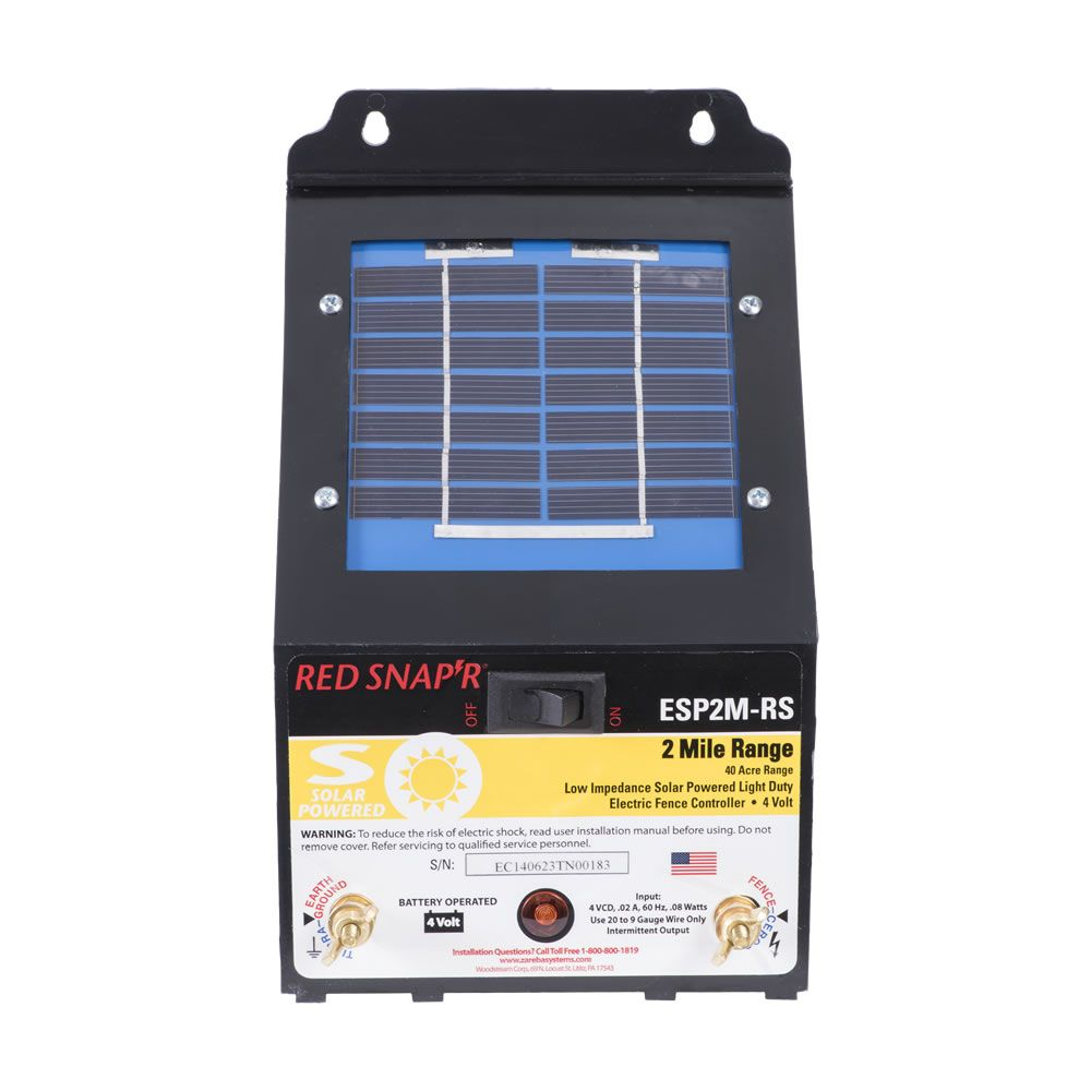 Red snapr 2 mile solar fence charger model esp2m rs sciox Choice Image