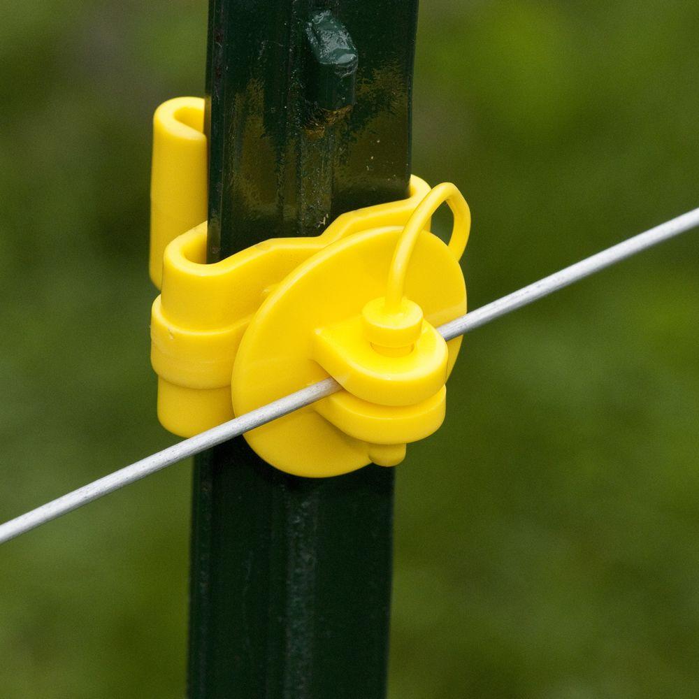 Fi Shock 174 Yellow Pin Lock T Post Insulator Model Itply