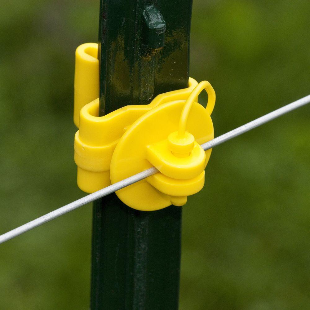 Pin Lock T Post Yellow