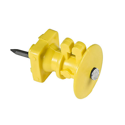 Yellow Wood Post Knob Insulators Zareba