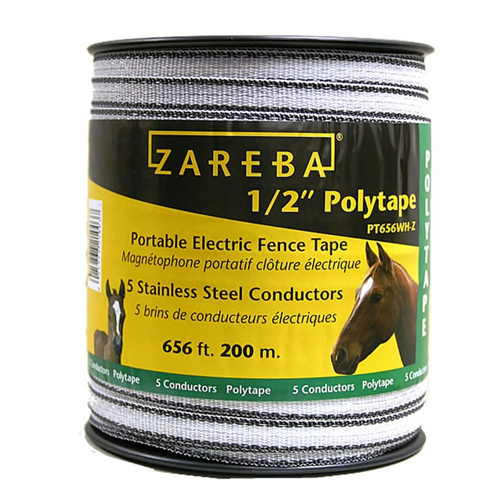 Zareba 174 1 2 Inch Poly Tape 656 Feet Model Pt656wh Z