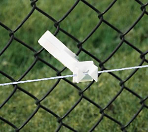 electric fence insulator for chain link fence