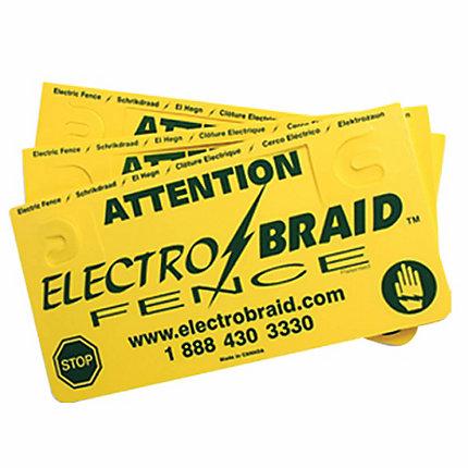 Electrobraid 174 Fence Warning Sign