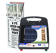Fi-Shock® Solar-Powered, 10 Mile Charger with 50 White Step-In Posts