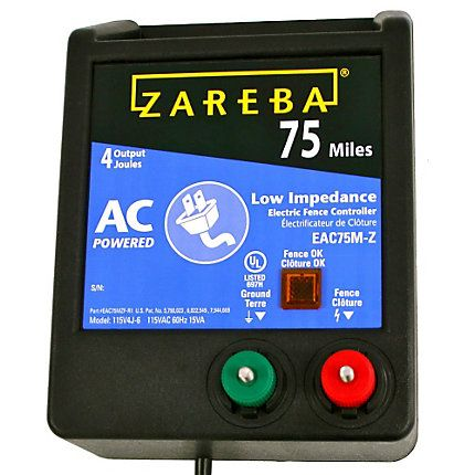 Zareba 174 75 Mile Ac Powered Electric Fence Charger Eac75m