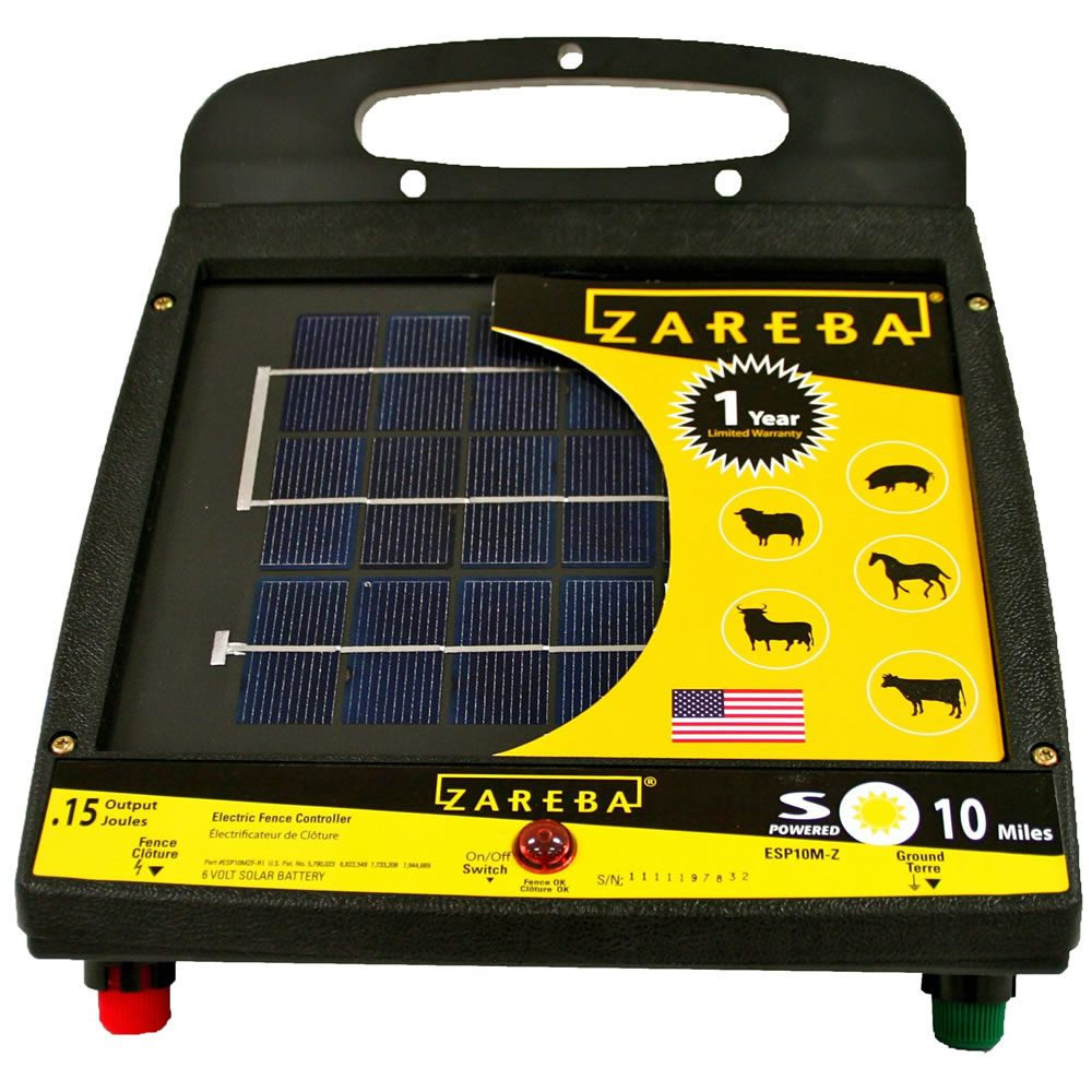 Zareba 10 Mile Solar Powered Electric Fence Charger Esp10m Z Wiring An