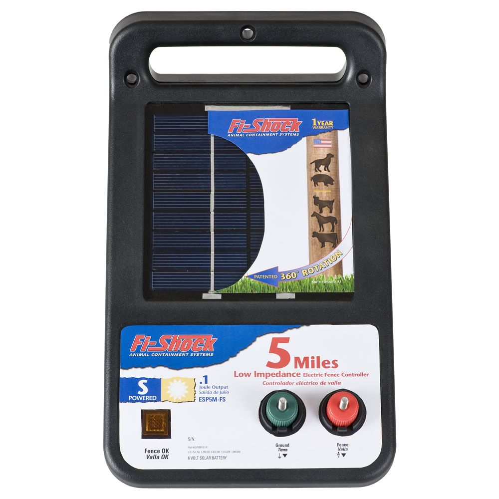 Fi Shock Solar Powered 5 Mile Charger Model Esp5m Fs Besides Electric Fence Circuit Diagram Also Energizer