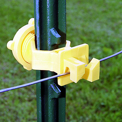 SNUG FITTING T POST INSULATOR Yellow Standard Electric Fencing 25 Pieces Bag NEW