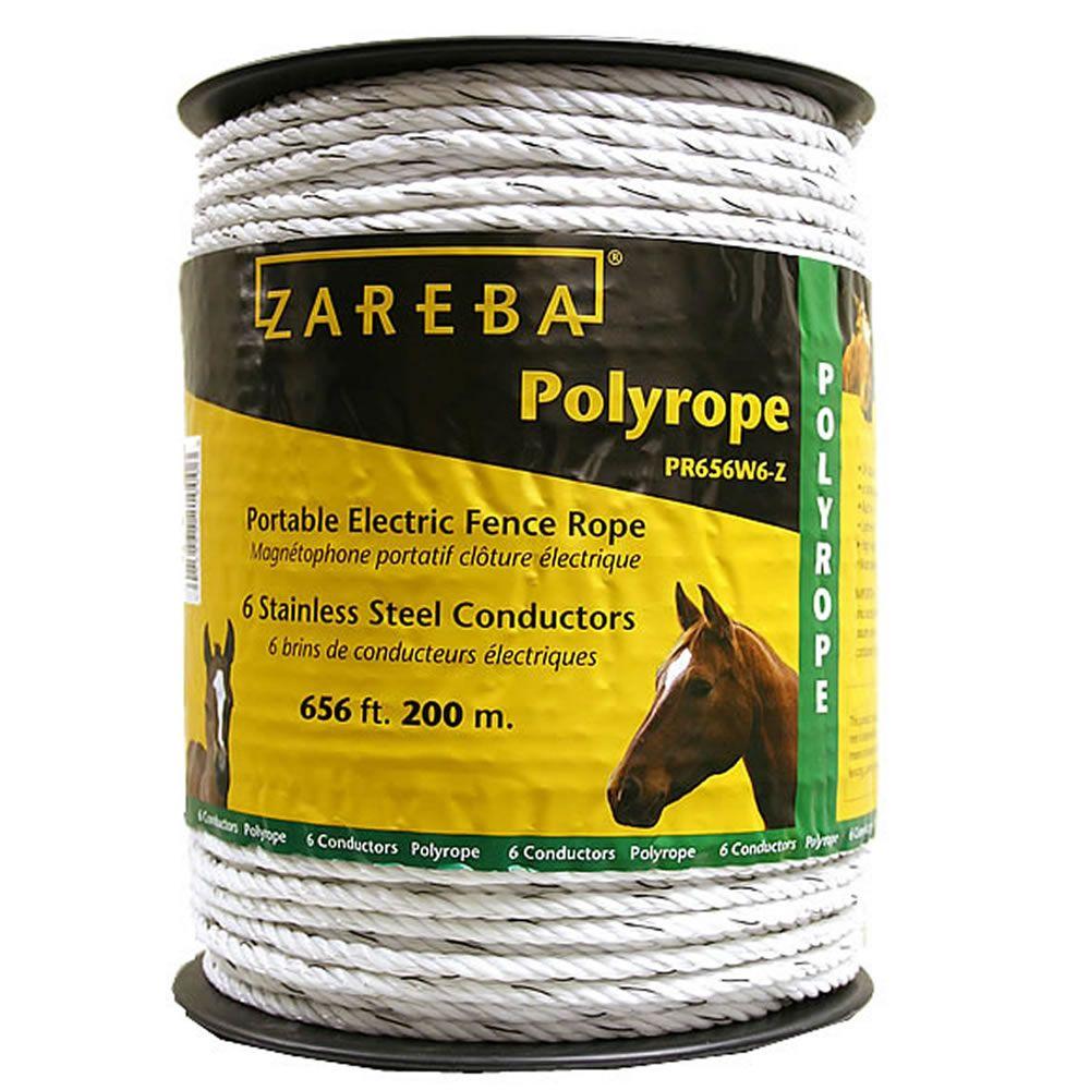 Zareba 174 656 Ft 200m Poly Rope Model Pr656w6 Z Zareba Com